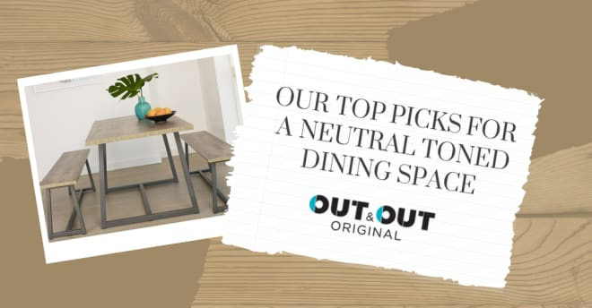 Our top picks for a neutral toned dining space