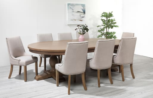 Balmoral Canterbury Classic- Oval Upholstered Dining Set- 8 Seater