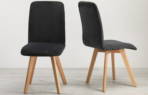 Berson - Dining Chairs - Charcoal - Set of 2