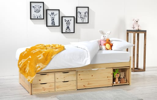 Franklin - Single Bed with Mattress - Natural
