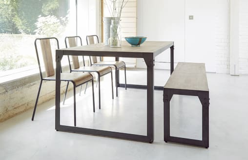 Brunel - Dining Set with Bench - 6 Seats