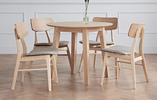 Constance - Solid Wood Dining Set - Round Table - 4 Seats