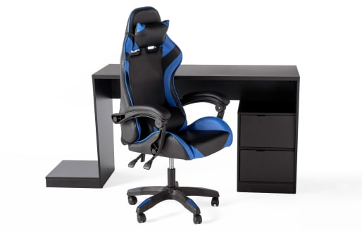 Gamer Desk and Chair - Blue