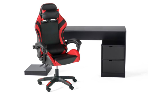 Gamer Desk and Chair - Red