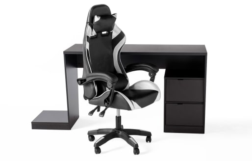 Gamer Desk and Chair - White