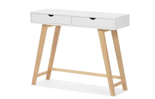 Gustavia – White Console Table with Drawers