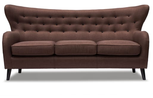 Wilfred - 3 Seater Sofa - Chocolate Brown