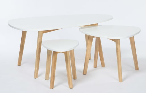 Nostro – Side Tables – Set of 3 - White
