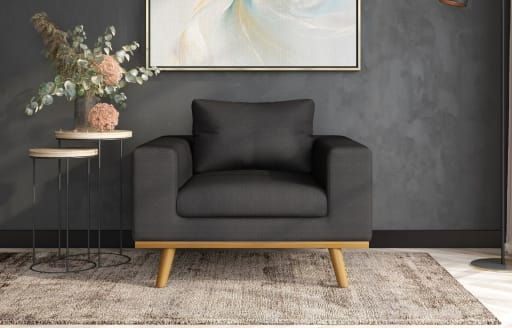 Olivia - Armchair - Knitted Black