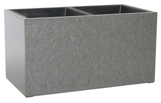 47cm Wide Concrete Planter with Two Sections