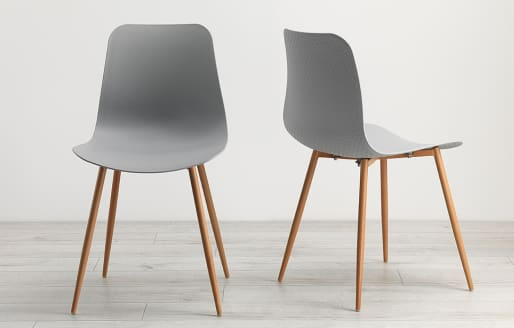 Talisa - Dining Chairs - Grey - Set of 2