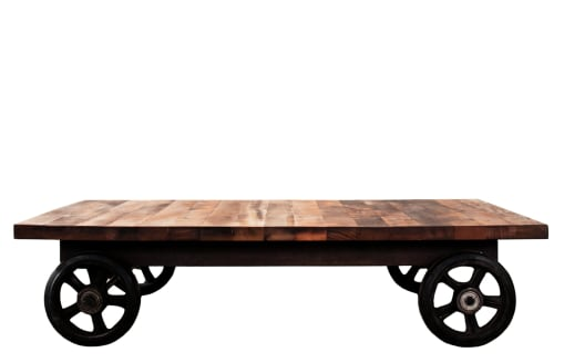 District 8 - Coffee Table with Wheels