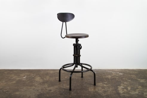 District 8 - Adjustable Stool - Wooden Seat